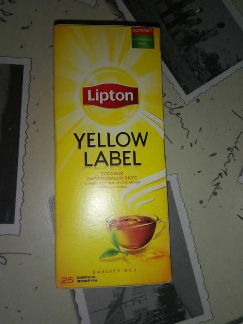 фото9 Чай Lipton Yellow Label черный, 25пак.