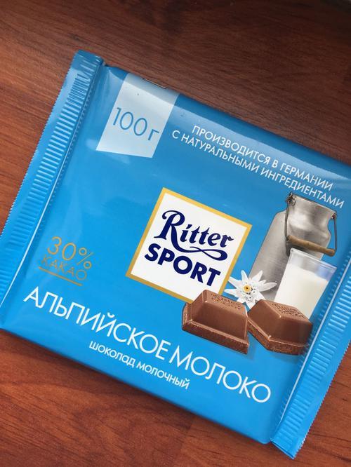 фото Шоколад Ritter Sport молочный