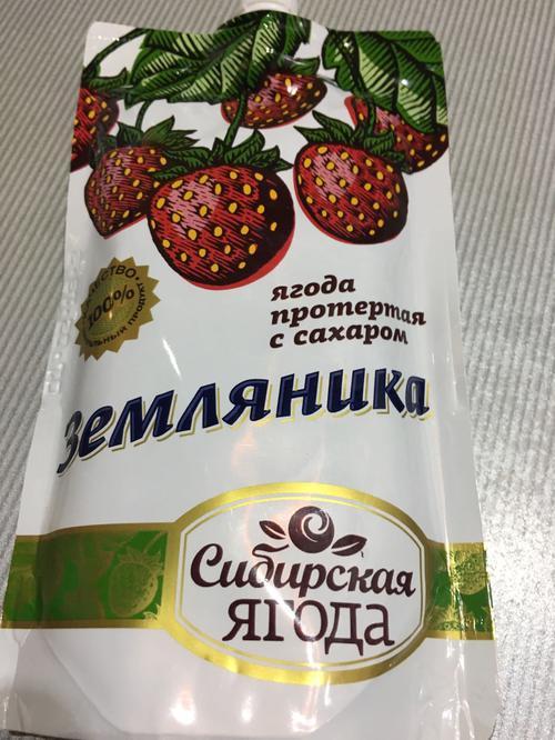 отзыв Ягода протёртая с сахаром земляника 280 гр