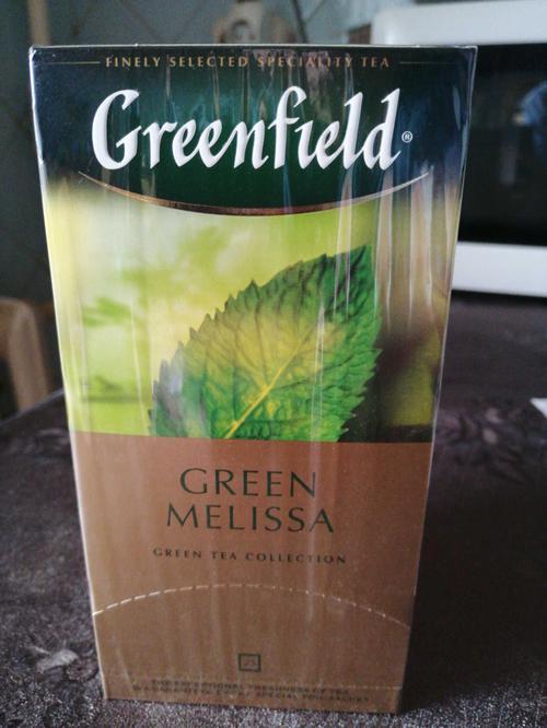 фото Чай зеленый байховый Гринфилд Грин Мелисса в пакетиках