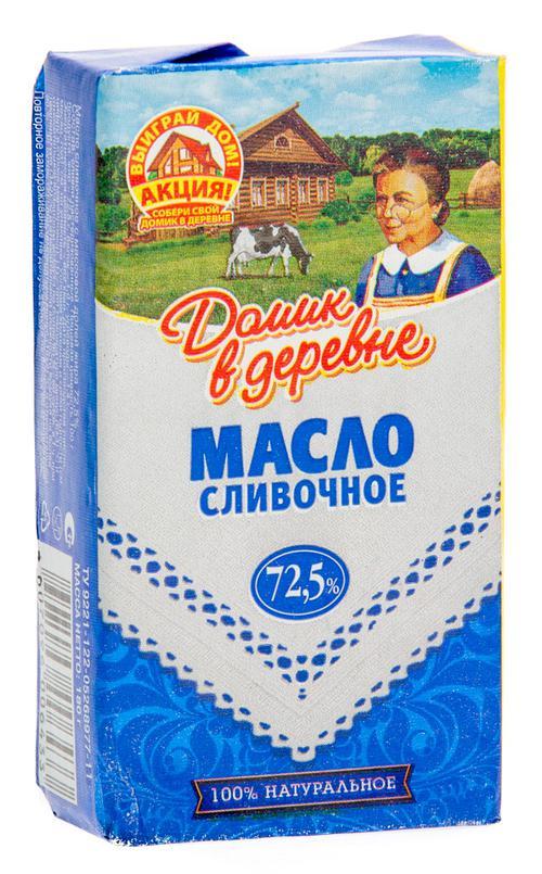 """цена Сливочное масло """"Домик в деревне"""" 72,5%"""