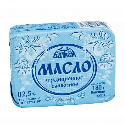 """Сливочное масло """"Балтком"""" """"Традиционное"""" 82,5%, высший сорт"""