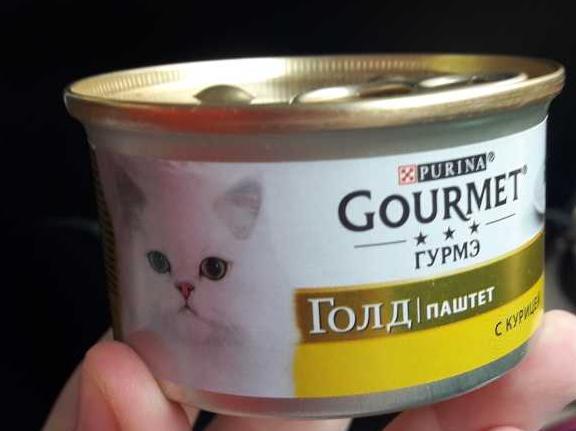 """стоимость Корм для кошек """"Gourmet"""" паштет с курицей, 85 г."""