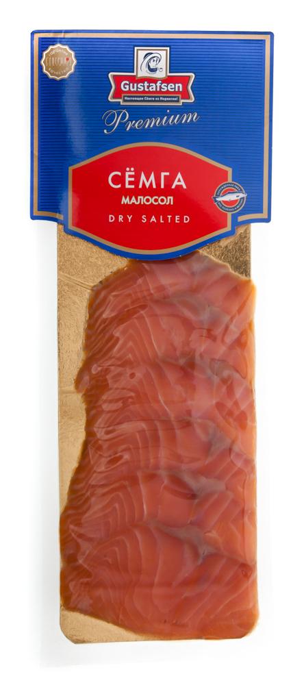Рыба деликатесная, Premium. Семга малосоленая, ломтики без кожи