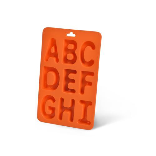 Форма для льда - буквы английского алфавита от A до I (силикон)
