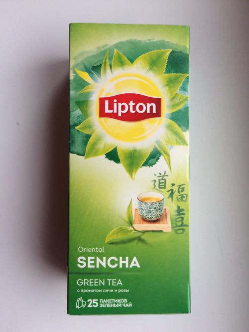 фото Lipton зеленый чай Oriental Sencha с ароматом личи и розы 25 пакетиков