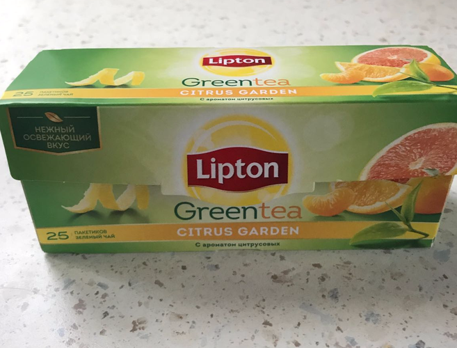 фото4 Lipton CITRUS GARDEN GREEN TEA