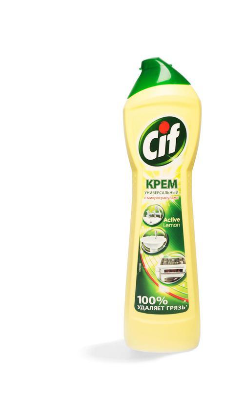 """цена Чистящий крем со специальными микрогранулами """"CIF АКТИВ ЛИМОН"""", 500 мл."""