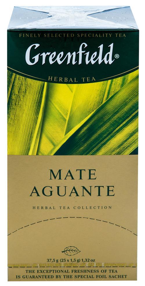 Напиток чайный Гринфилд Матэ Агуантэ в пакетиках