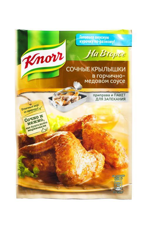 """отзыв Смесь """"Knorr"""" На второе! Сочные крылышки в горчично- медовом соусе 23 г."""