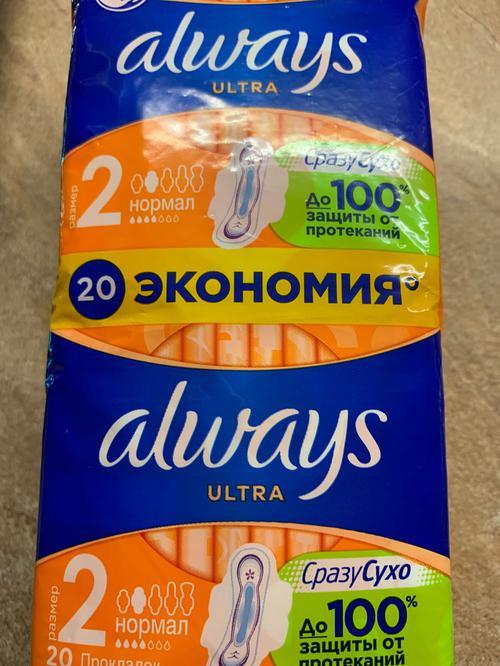 """описание Гигиенические прокладки """"Always ultra"""" DUO, Normal plus, 2х10 шт."""