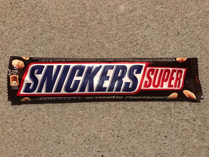 Шоколадный батончик SNICKERS SUPER с жареным арахисом (штрихкод ... 39a3d16594d