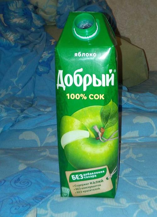 фото Сок Добрый яблочный, 1л.