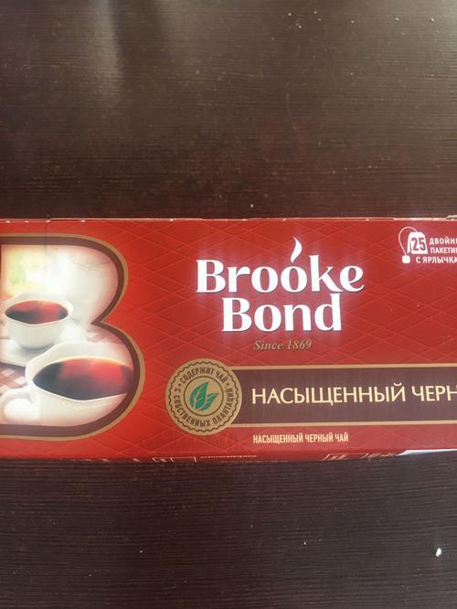 фото1 Чай черный brooke bond байховый, 25 пакетиков х 1,8г.