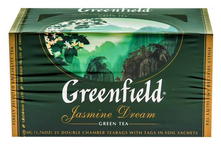 Чай зеленый байховый Гринфилд Жасмин Дрим в пакетиках