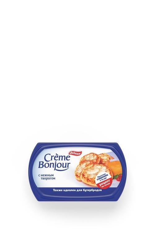 цена Крем растительно-творожный Creme Bonjour с нежным творогом 26% 200г