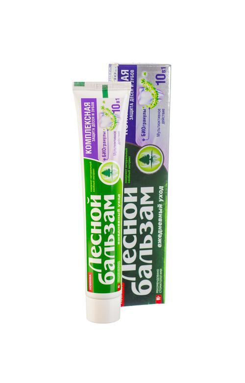 """цена Зубная паста """"лесной бальзам""""с биогранулами"""