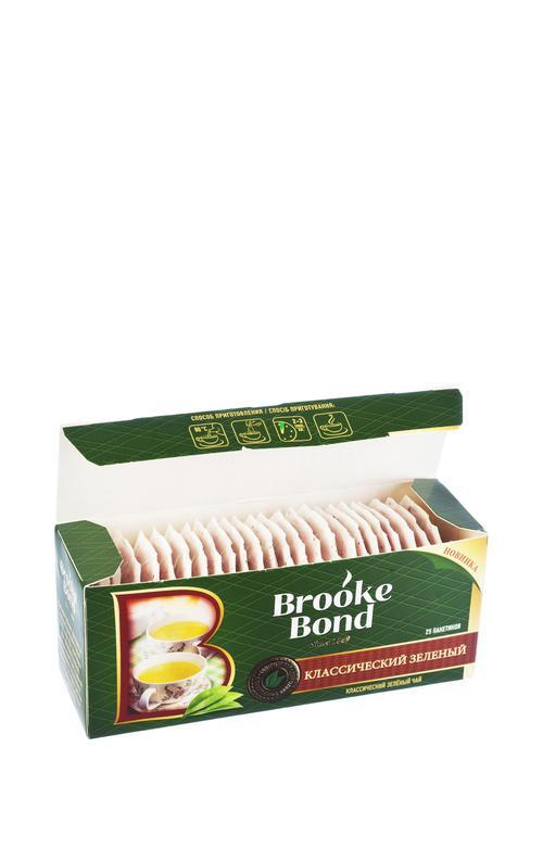 отзыв Чай зеленый байховый brooke bond классический 24x25пx1.8г