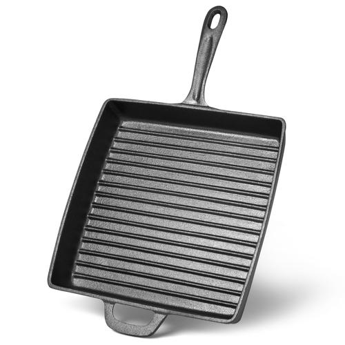 Сковорода-гриль 28х4,7см Квадратная с ручкой (чугун)
