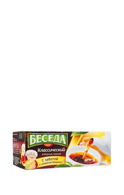 """описание Чай """"Беседа"""" (Unilever), черный байховый классический отборный"""