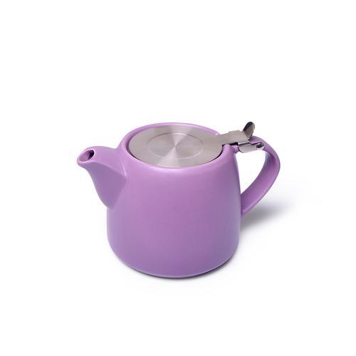 Чайник заварочный 600мл с ситечком, цвет Сиреневый (керамика)