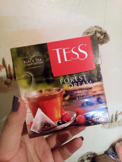 фото1 Чай черный байховый с ароматом малины и черники Тесс Форест Дрим в пакетиках