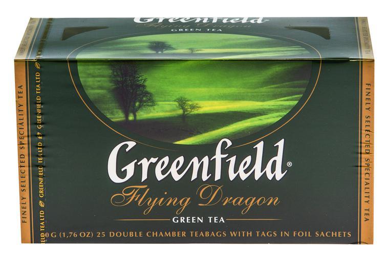 Чай зеленый байховый Гринфилд Флаинг Драгон в пакетиках