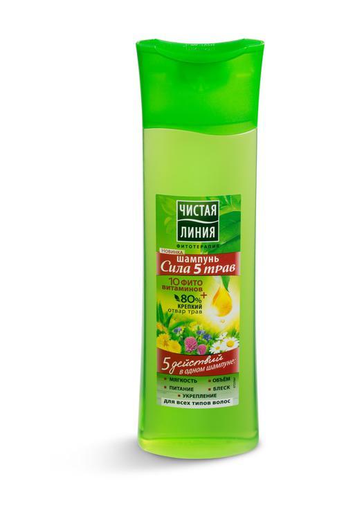отзыв Мицеллярный шампунь Чистая линия 5 трав и витамины
