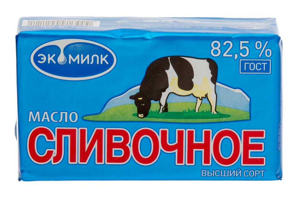 Масло сливочное несолёное. Массовая доля жира 82.5%