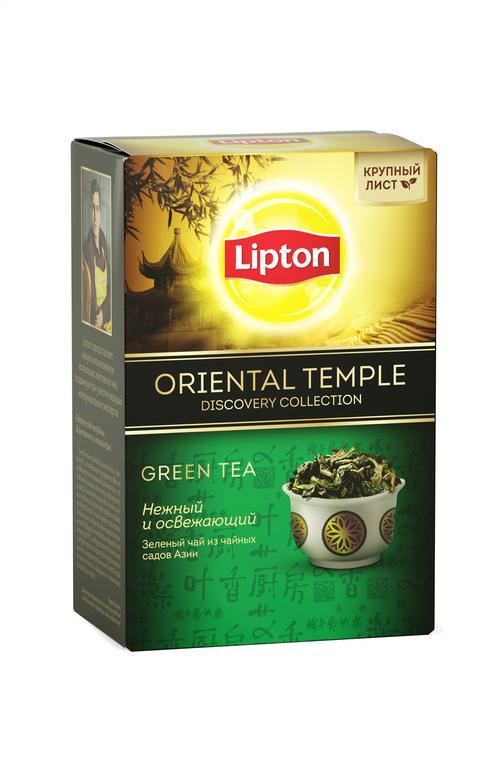 цена Lipton чай зеленый листовой Oriental Temple 85 гр