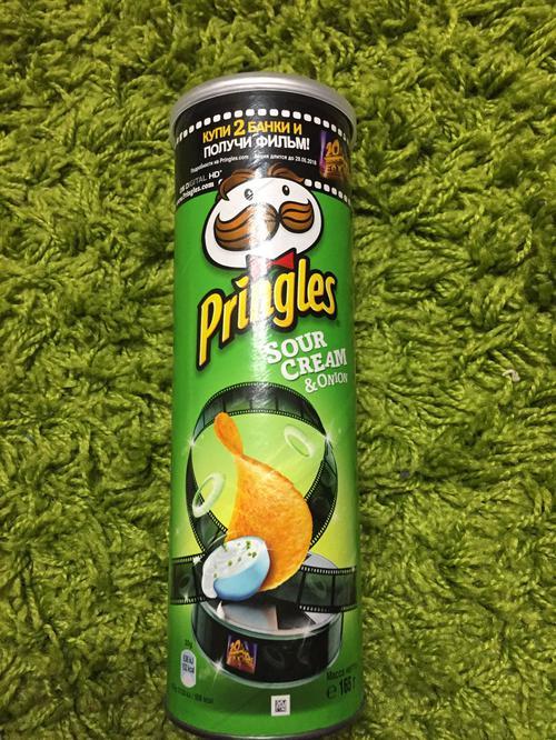 фото10 Чипсы Pringles со вкусом сметаны и лука, 165гр.