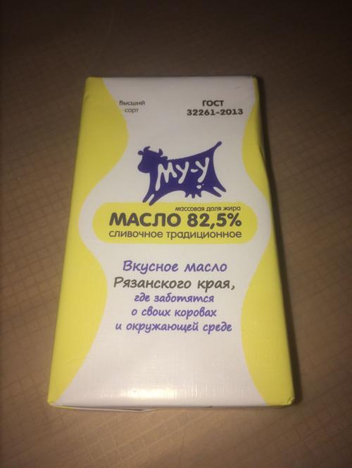 фото1 Сливочное масло Му-у Традиционное, 82,5%, высший сорт