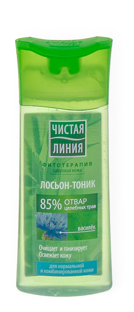 """Лосьон-тоник """"чистая линия"""" для нормальной и комбинированной кожи василек"""