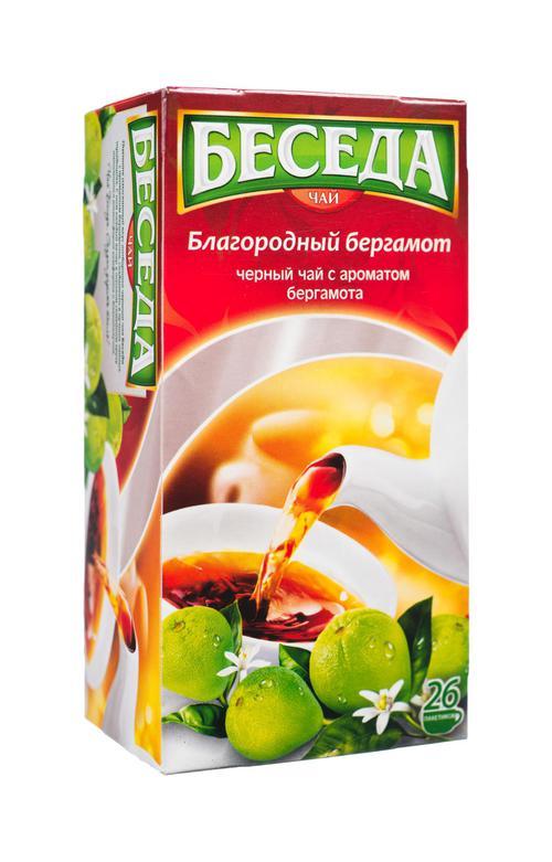 описание Черный чай Беседа с ароматом бергамота