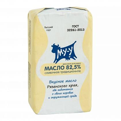 Сливочное масло Му-у Традиционное, 82,5%, высший сорт