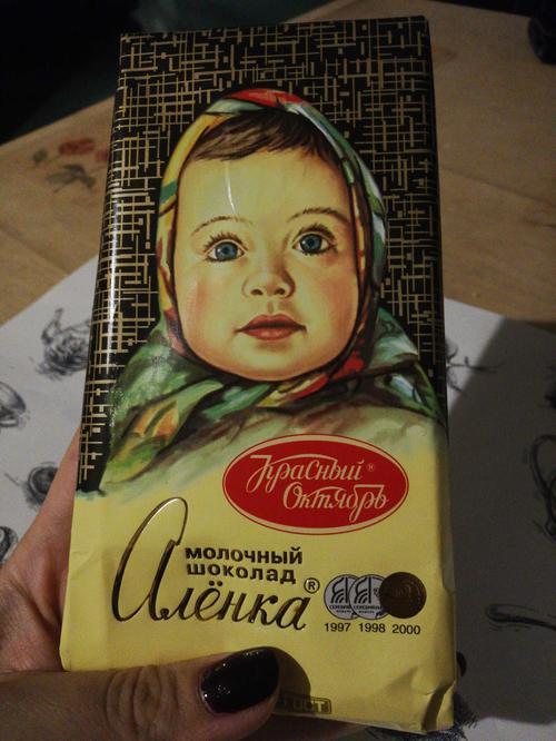 """описание Шоколад """"Аленка"""" молочный, 100гр."""