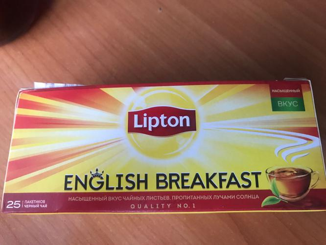 фото3 Чай Lipton English Brеakfast черный 25пак.х2г