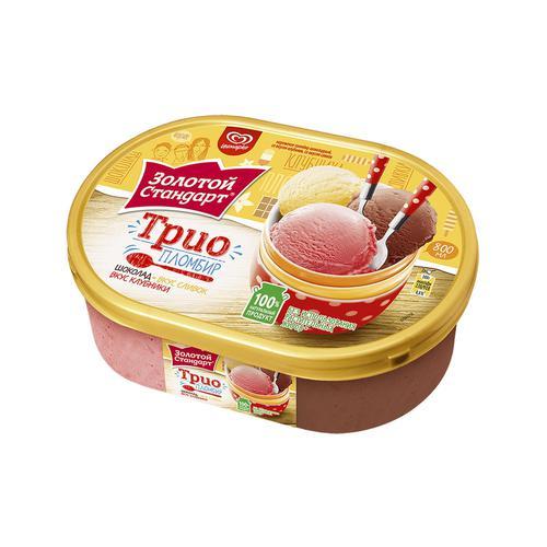 Мороженое пломбир шоколадный, со вкусом клубгники, со вкусом сливок