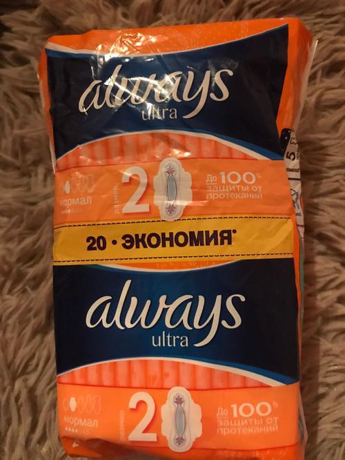 """стоимость Гигиенические прокладки """"Always ultra"""" DUO, Normal plus, 2х10 шт."""