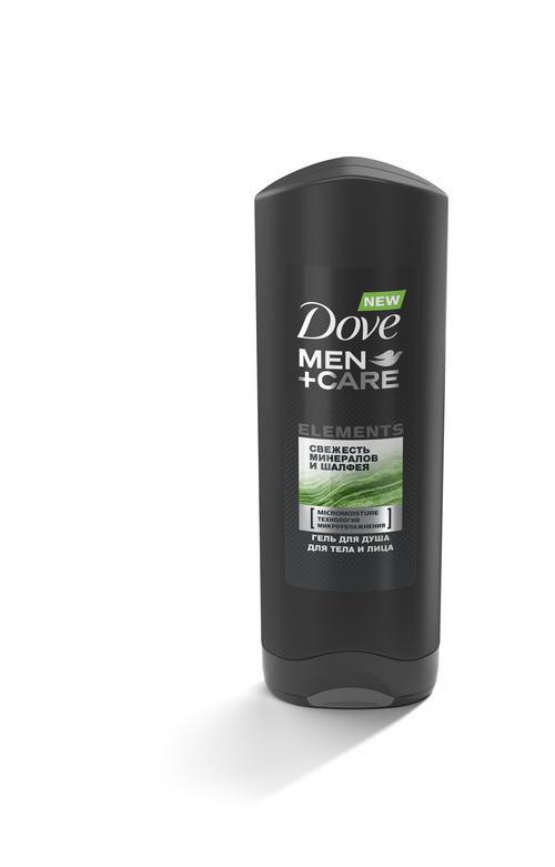 """Dove Men+Care гель для душа """"Свежесть минералов и шалфея"""", 250 мл"""