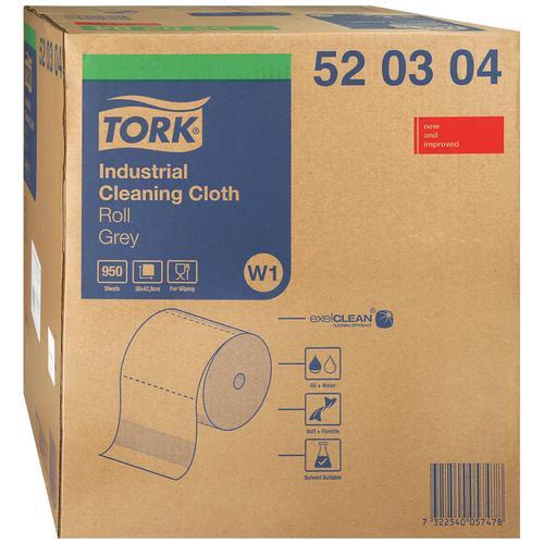 Протирочный материал Tork рулон 361м 950 листов 43х38см серый нетканный