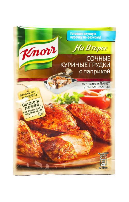 отзыв Кнорр на второе coчное куриная грудка с паприкой 27х24г
