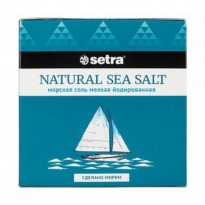 Натуральная морская пищевая соль мелкая йодированная NATURAL SEA SALT