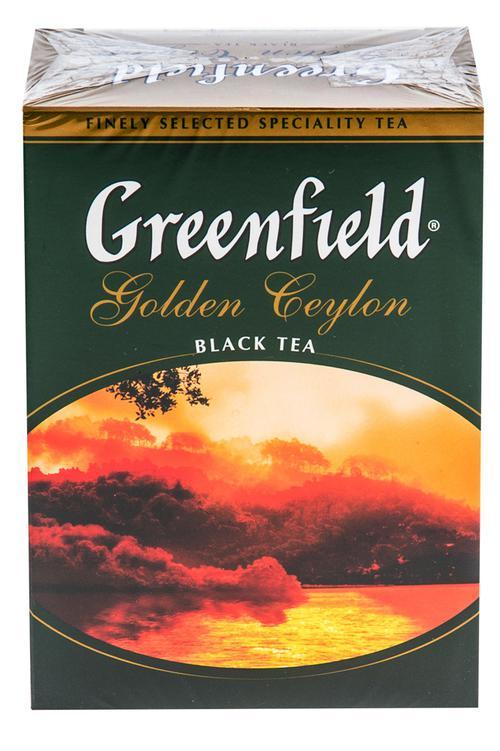 Чай Greenfield Golden Ceylon чёрный листовой цейлонский