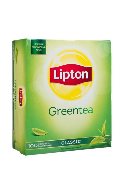 Lipton зеленый чай classic 12x100пакx1.7г