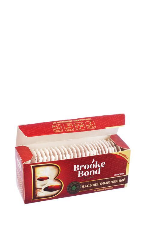 отзыв Чай черный brooke bond байховый, 25 пакетиков х 1,8г.