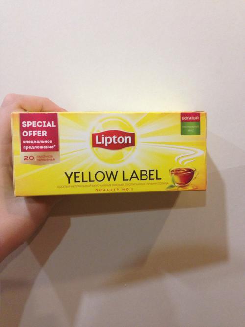 фото3 Чай черный байховый Lipton Yellow Label, 20пак.