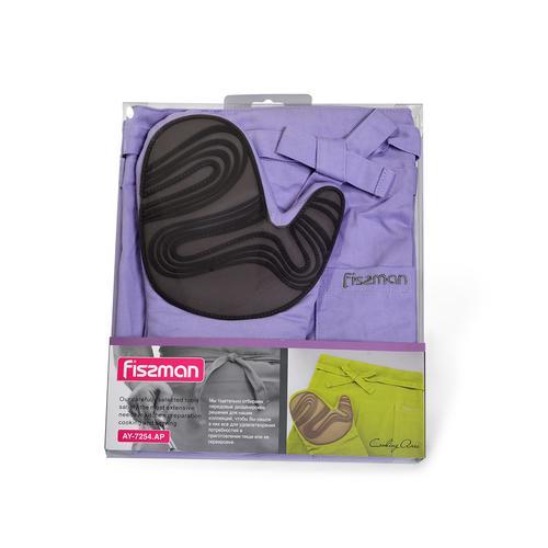 Фартук и рукавица-прихватка (текстиль + силикон)