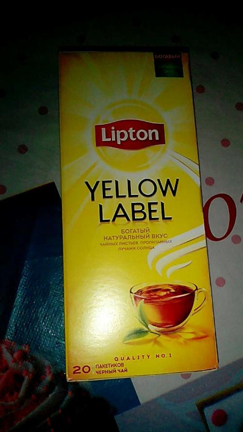 фото4 Чай черный байховый Lipton Yellow Label, 20пак.