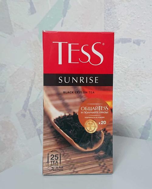 Чай черный байховый Тесс Санрайз в пакетиках
